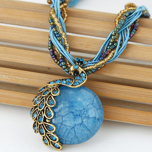 Jewelry - !!3/25!!  FULL MOON ANTIQUE NECKLACE (BLUE)